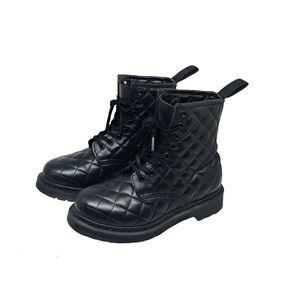 Doc Dr. Martens Coralie Black Quilted Combat Boots